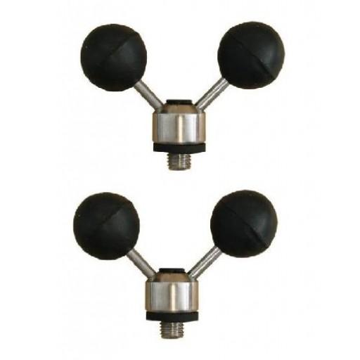 2 x Stainless Twin Ball Buzz Bug Rest
