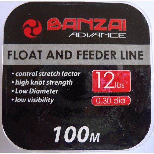 Banzai Float and Feeder Fishing Line 12LB