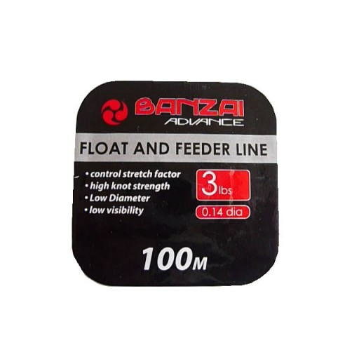 Banzai Float and Feeder Fishing Line 3LB