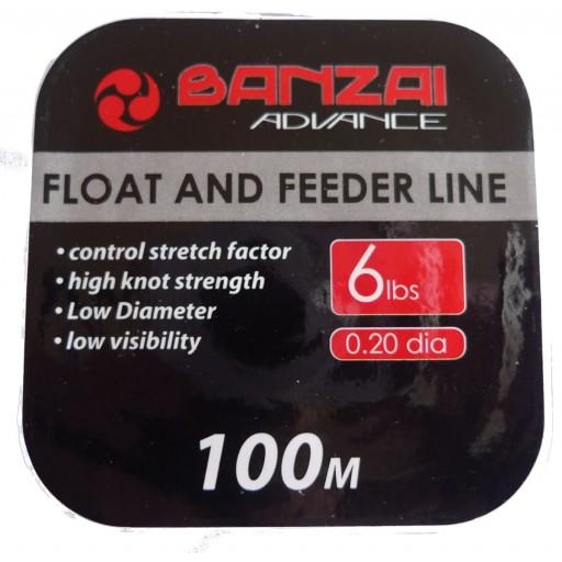 Banzai Float and Feeder Fishing Line 6LB