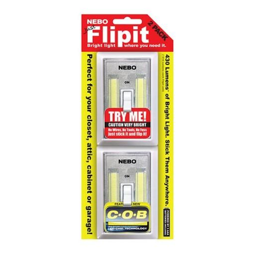 Nebo Flipit 6523 215 lumen COB LED Magnetic room/closet/shed light 2 PACK