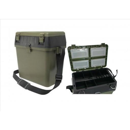 Green Seat and Tackle box