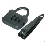 Gone Travelling Outdoor Travel Combination Lock Set & Nail Clipper