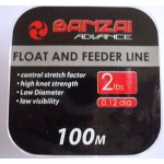 Banzai Float and Feeder Fishing Line 2LB