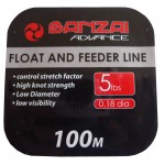 Banzai Float and Feeder Fishing Line 5LB