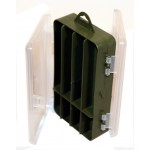 Fishing Tackle Box doubled sided for hooks, lures weight storage etc