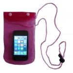 Pink Waterproof and Beach proof Phone Case