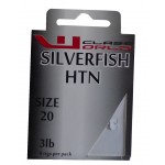Silver Fish Barbless  Hooks to Nylon Size 20 to 3lbs