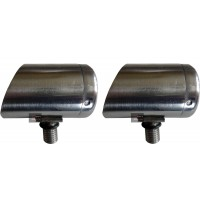 2 X 3cm Horizon Stainless Steel Specialist Butt Cup for Rod Pods