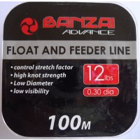 Banzai Float and Feeder Fishing Line 12LB