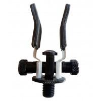 1 X  Super Lite Adjustable Black Alloy Butt Rests/Back Grips