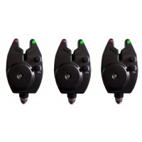 Set of 3 Black VT Bite Alarm with Volume and Tone Control