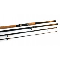 world class 2-7 metre 9ft 4 piece carbon travel fishing rod cork handle