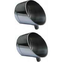 2 X 5cm Horizon Stainless Steel Specialist Butt Cup for Rod Pods
