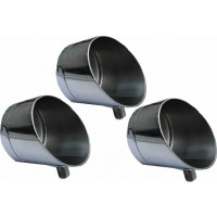 3 X 5cm Horizon Stainless Steel Specialist Butt Cup for Rod Pods