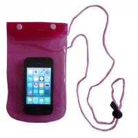 Pink Waterproof and Beach proof Phone Case