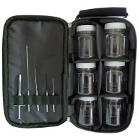 Loaded Boilie Glug Pot and tool set in Carry Bag