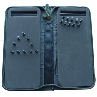 Double Sided Stiff Rig Wallet Green and Stainless Steel Baiting set