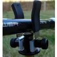 3 X  Super Lite Adjustable Black Alloy Butt Rests/Back Grips
