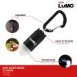 LUMO Omindirectional Clip On Light - Red Body / White Light