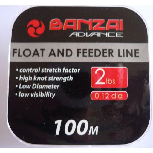Banzai Float and Feeder Fishing Line 2LB