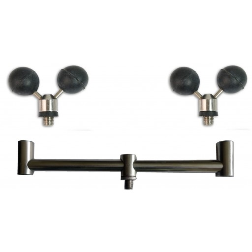 2 Rod Stainless Steel Buzz Bar and 2 Stainless Ball Rests
