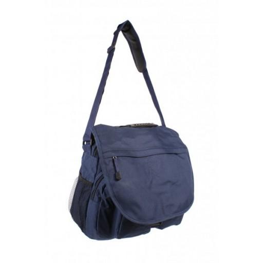 Blue  poachers bag ideal for walking, fishing and student shoulder bag