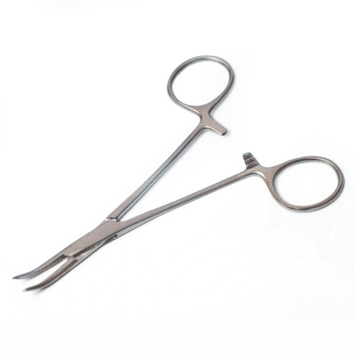 Curved Bent Forcep 6 inch Brushed Stainless Steel Lockable Locking Forceps