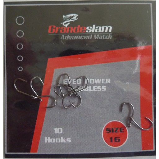 Grandeslam Advanced Power Barbless Hooks  Size 16