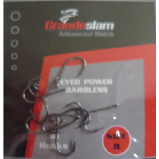 Grandeslam Advanced Power Barbless Hooks  Size 8