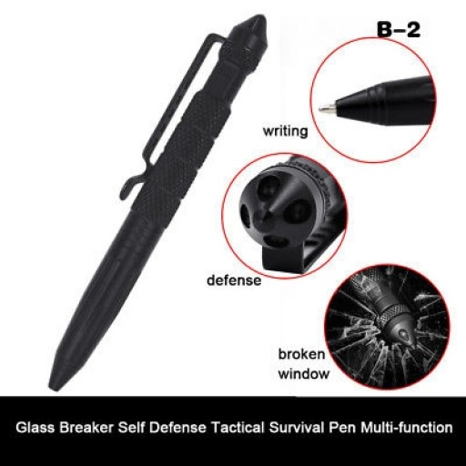 Tactical Pen EDC Aluminum Glass Breaker Self Defense Tactical Survival Pen Multi-function Camping Tool for Writing