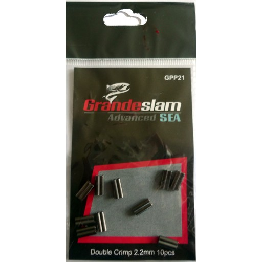 Double Crimps 2.2mm For traces, leaders and pike & prreditor fishing pack of 10