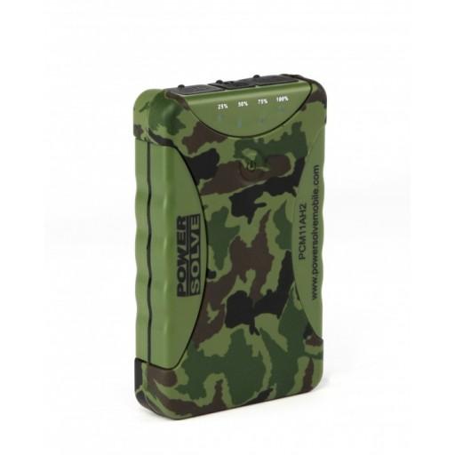 Powersolve PCM11AH2 Rainproof and Dustproof Outdoor Camouflage Power Bank, 11200 MAH Capacity