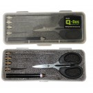 5 + 1 Tool Set - Braid Scissors & Baiting Tools in clear tackle case