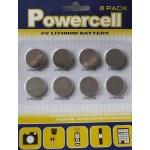 3v lithium batteries mega 8 pack
