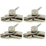 4 Pack Stainless steel angle lock