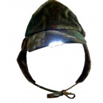 Camo Artic Hat with LED Lights  with extra ear warmers