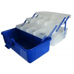 Clear top 3 Tray Cantilever Tackle  or Craft Box