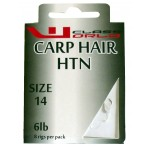 Carp Hair Rig Barbless  Hooks to Nylon Size 14 to 6lbs