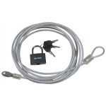 3m x 4mm Security Cable & Padlock