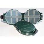 The Original Portable Plastic Turtle Shaped 12 Compartment Fishing Tackle Box
