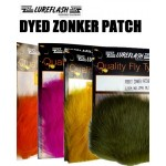 Lureflash Rabbit Zonker Patches, Lime