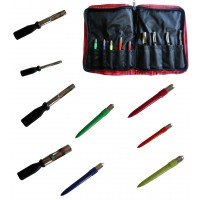Bread & Meat Punch Set in full zip wallet, ideal carp bait preperation