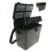 Fishing Tackle Seat Box Includes Padded Strap & Seat Pad Very Strong