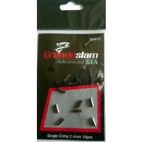 Single Crimps 2.4mm For traces, leaders and pike & prreditor fishing pack of 10