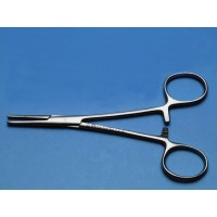 Straight Forcep 5-1/2 inch Brushed Stainless Steel Lockable Locking Forceps