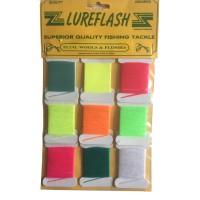 Lureflash Fluro. Wools & Flosses Pack