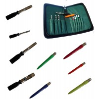 Deluxe Bread & Meat Punch Set in full zip wallet, ideal carp bait preperation