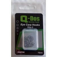 Size 6 Q Dos Eyed Barbless Specimen Carp Hooks, 15 Hooks per pack