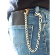 Black Canvas Sports Hook Loop Rip Credit Card Wallet Security Chain Trifold